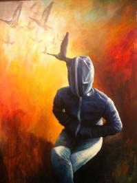 Transfer 13, 100x70 cm, acrylic on canvas