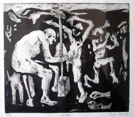 Fire, 30x35 cm, ink on paper, 1994.