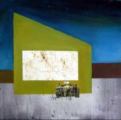 Car bomb, 60x60 cm, combined technique, 1995.