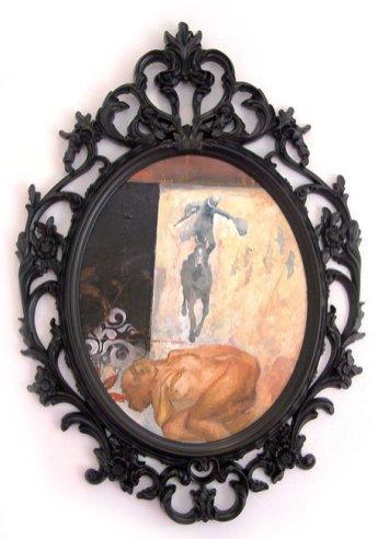 """Stunt"" 70x50 cm, acrylic on wood, 2009."
