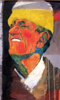 Fun, 60x35 cm, oil on wood, 1999.