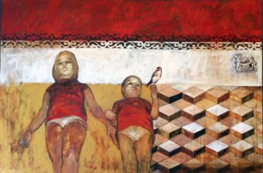 Angels, 100x150 cm, oil on canvas, 2008
