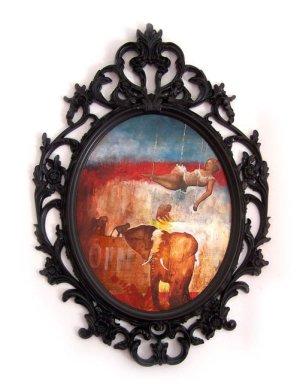 """Circus"" 70x50 cm, acrylic on wood, 2009."