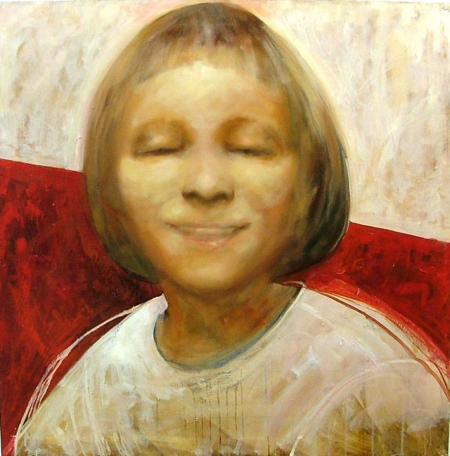 Eva, 100x100 cm, oil on canvas, 2004.