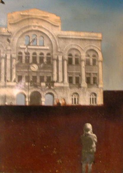 Sarajevo, 45x45 cm, combined technique, 1998.