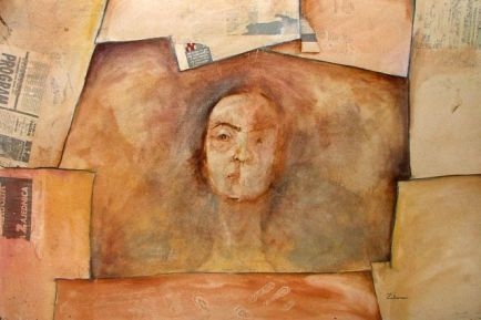 Profesoresa, 70x100 cm, oil on paper, 1995.