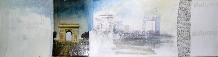 BlogArt, 20x100 cm, combined technique on paper, 2005