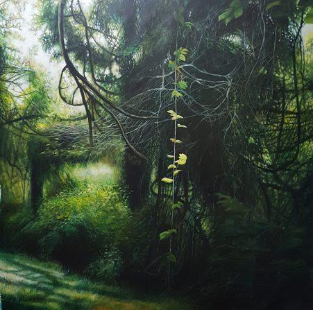 Contia, 160x160 cm, oil on canvas, 2017