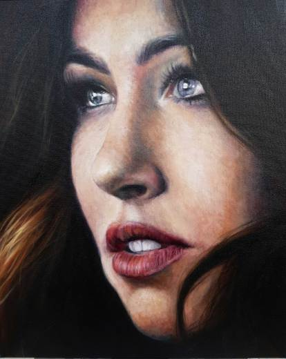 """Deniss"" oil on canvas, 40x50 cm, 2019."