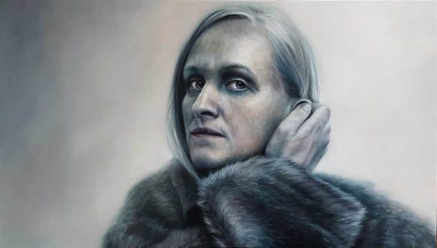 """Mirror"" oil on canvas, 70x110 cm, 2019."