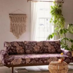 Sabrina Sofa Half Moon Glass Tables Floral Print Urban Outfitters Uk Slide View 1
