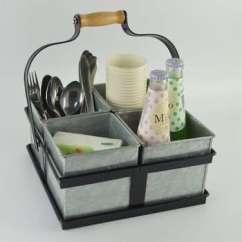 Kitchen Organizer Cabinet Supply Store 金属餐具架餐具球童组织者厨房台面的存储 餐桌f0212 厨房组织者