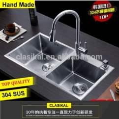 Best Kitchen Sink Boots 中国制造商质量最好的双碗手工304不锈钢厨房水槽 最好的厨房水槽