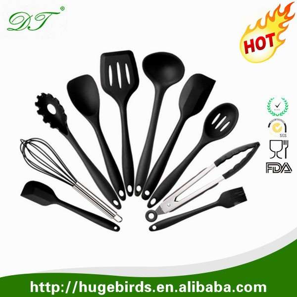kitchen utensils set corner shelves 高级硅胶厨房用具 可爱的烹饪工具套装 厨房用具套装