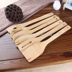 Kitchen Tool Set Lowes Faucets Delta 厨房6pcs服务工具集炊具天然木竹烹饪 Amp 用具 厨房工具集