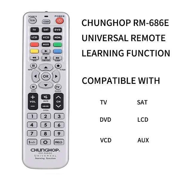 Chunghop RM-686E Factory Custom Universal TV Remote