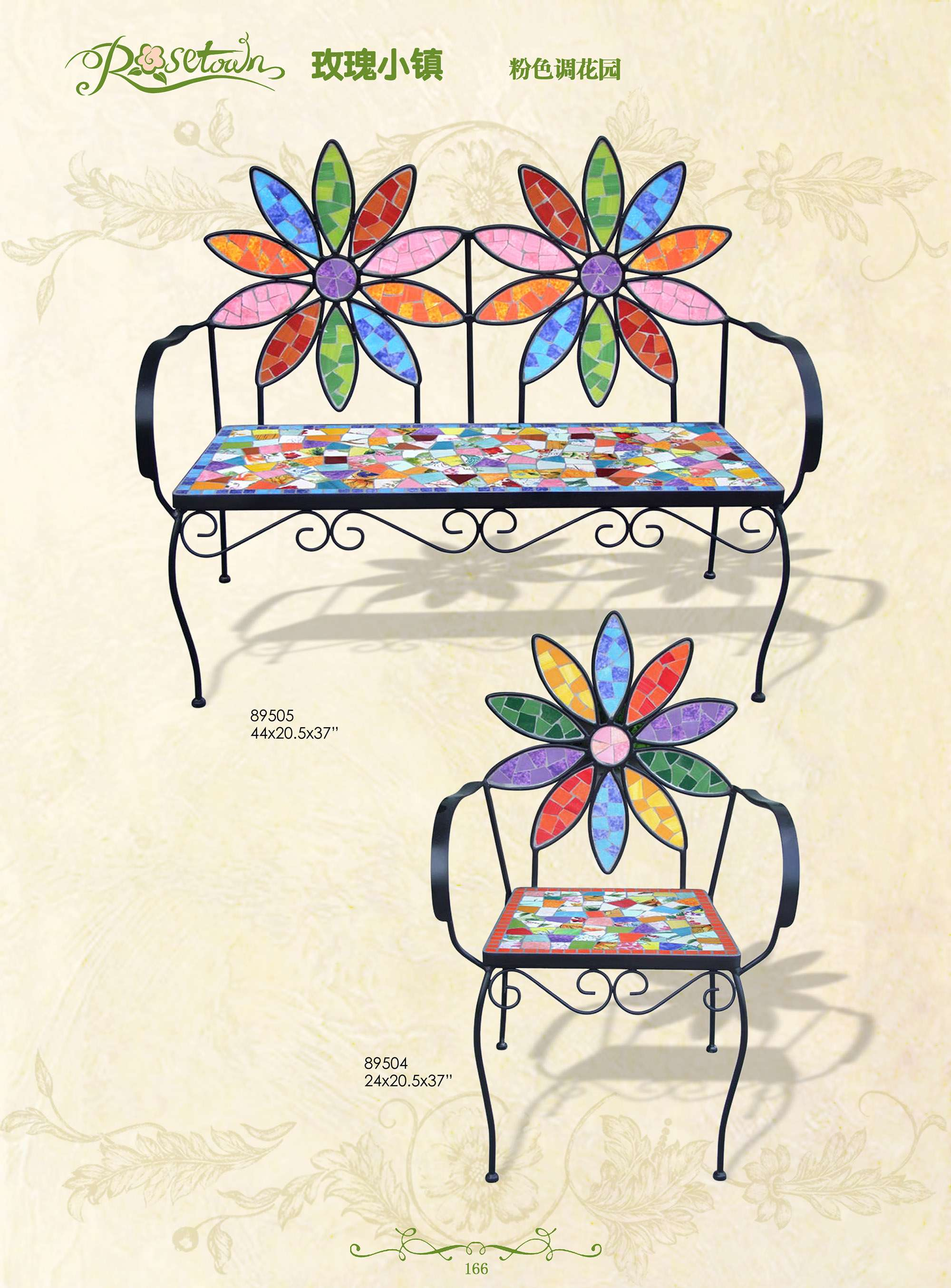 hand draw colorful ceramic wrought iron