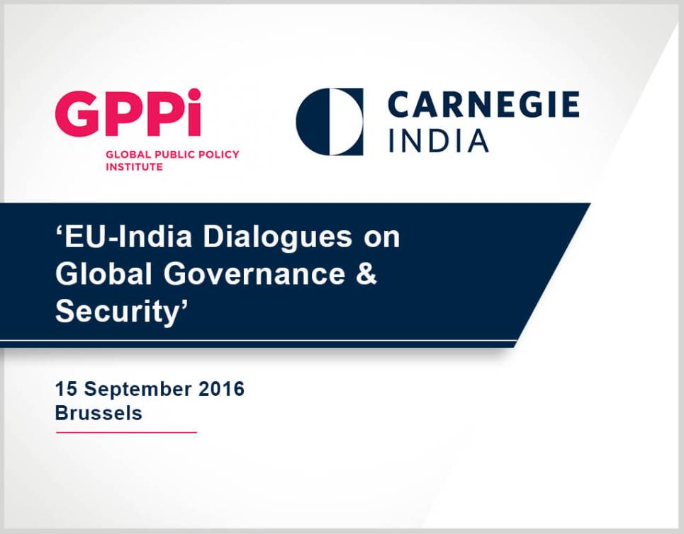 EU-India Dialogues on Global Governance and Security