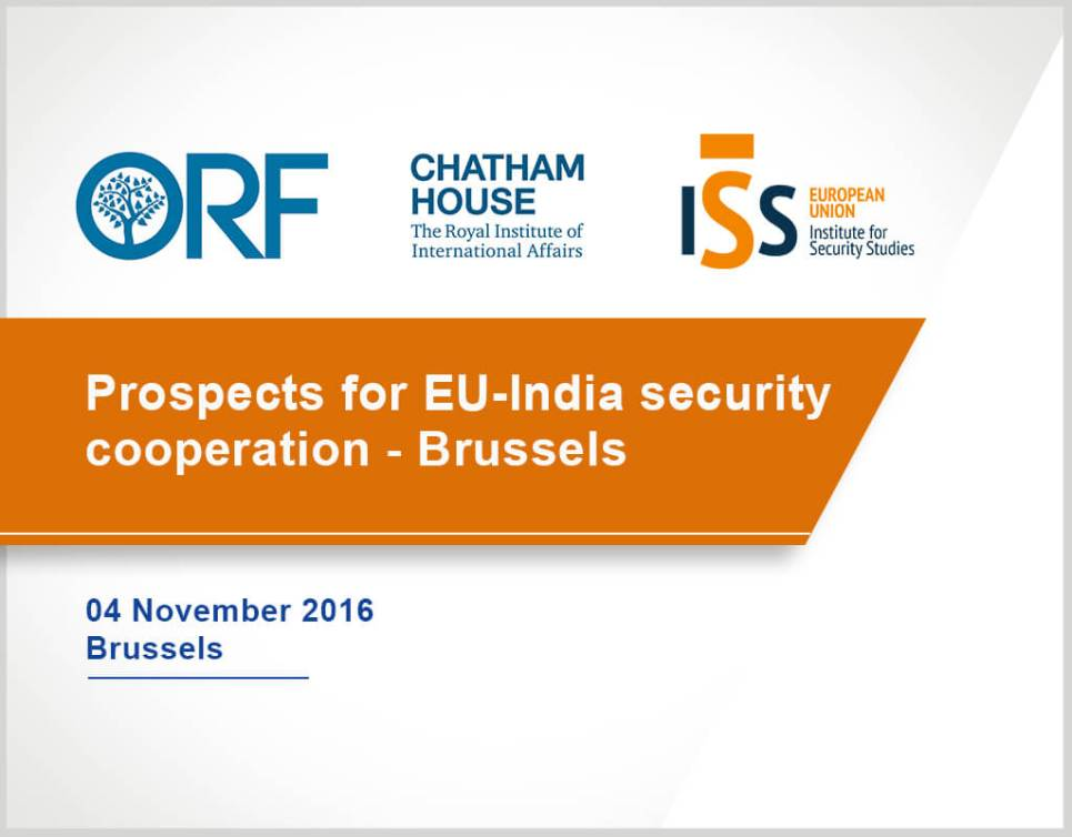 Prospects for EU India security cooperation – Brussels