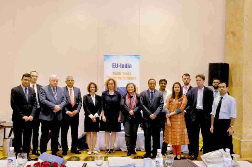 Group photo of partcipants from the EU India Think Tanks workshop held on September 11, 2018