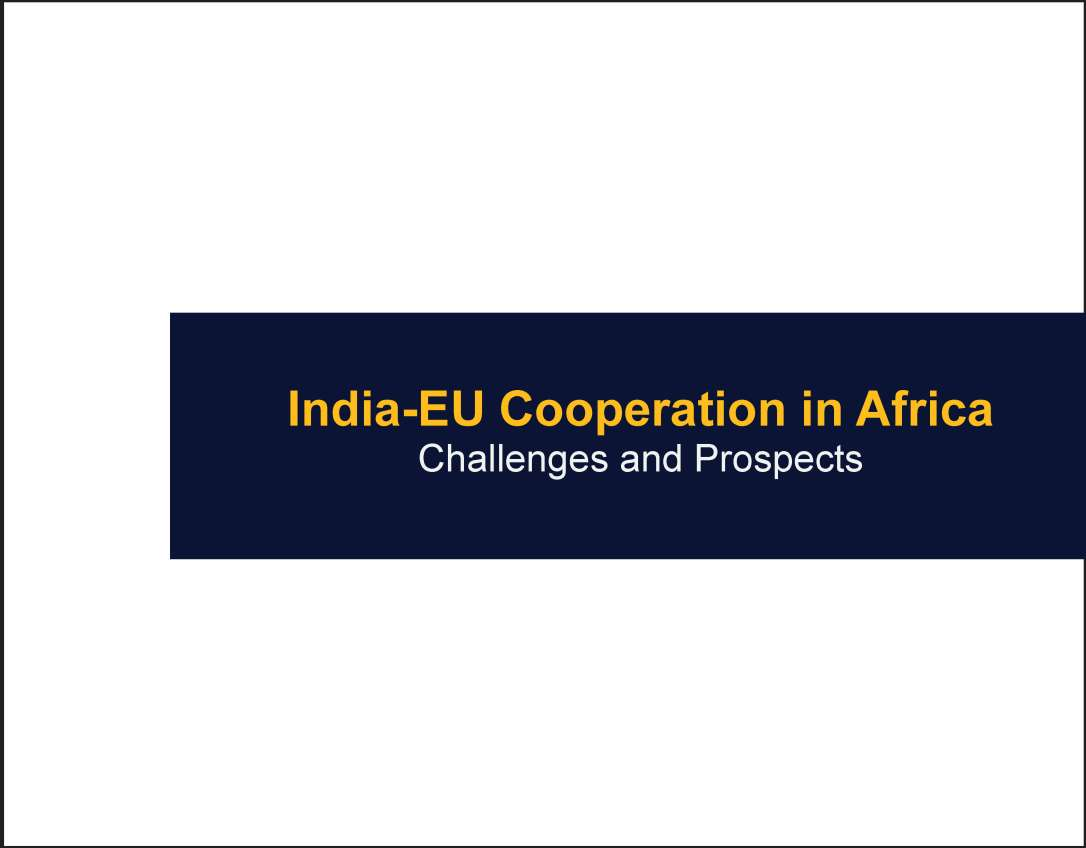 India-EU Cooperation in Africa-Challenges and Prospects
