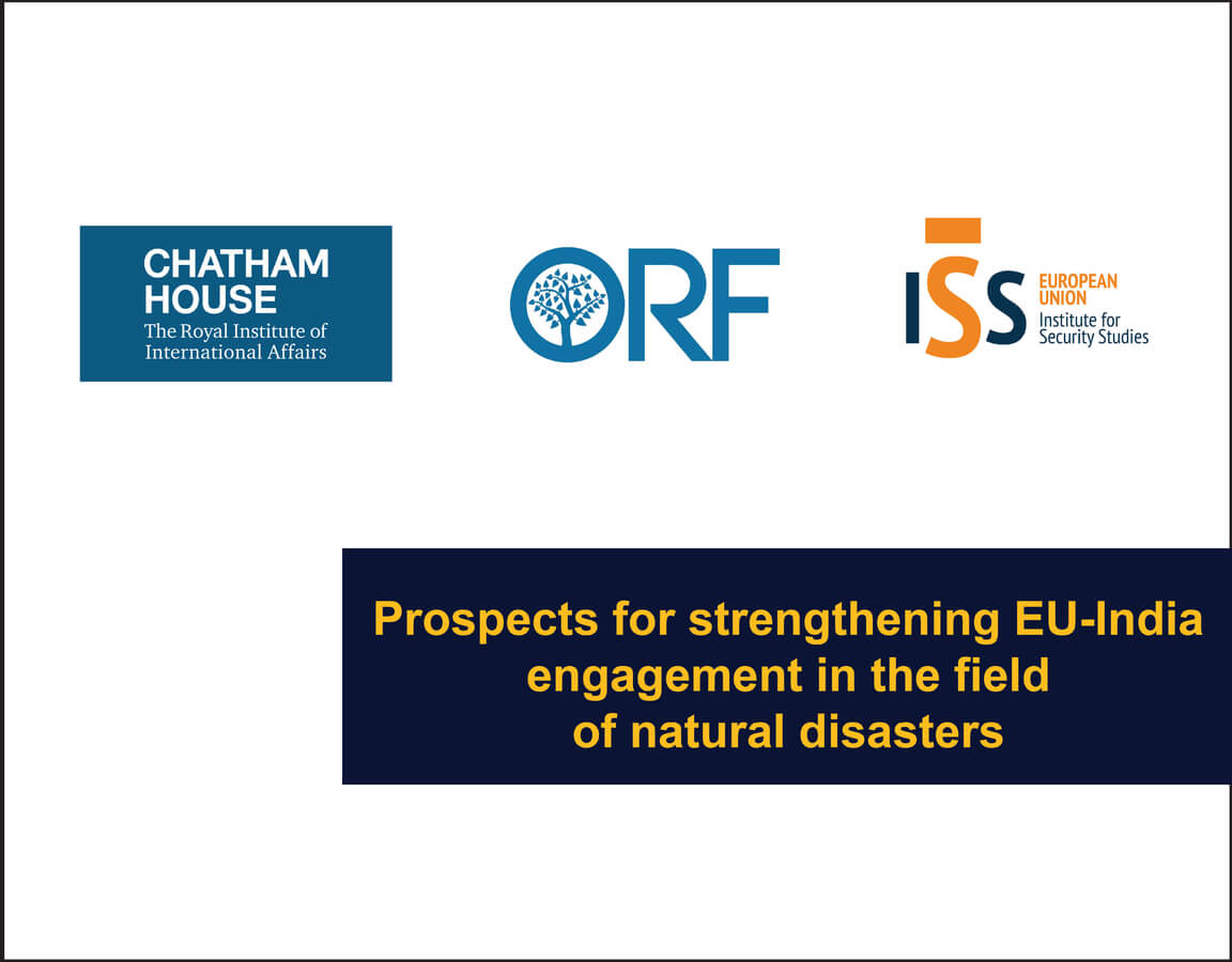 Prospects for strengthening EU India engagement in the field of natural disasters