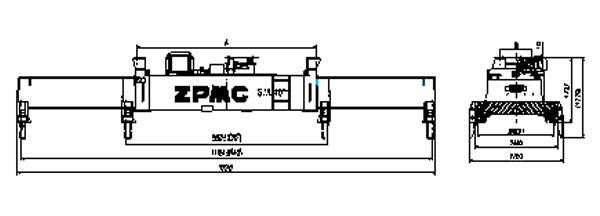 ZPMC Single-lift Spreader (Fixed Flipper)