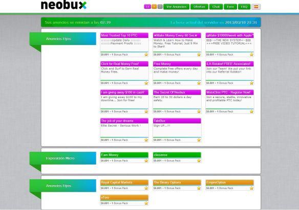 anuncios neobux neobux Neobux, Sistema para ganar dinero sin inversion viendo publicidad anuncios neobux 1