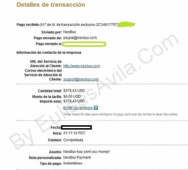 pago-recibido-neobux2 neobux Neobux, Sistema para ganar dinero sin inversion viendo publicidad pago recibido neobux2