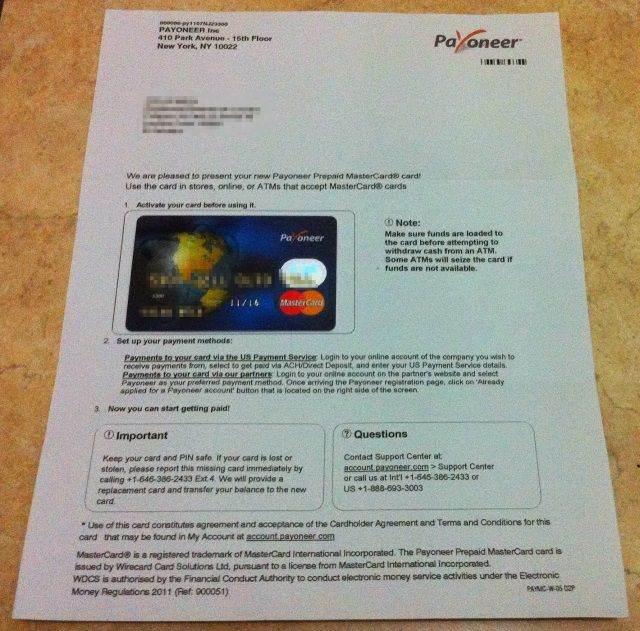 recibida tarjeta payoneer Payoneer, Tarjeta Internacional Gratis con Cuenta en Estados Unidos recibida tarjeta payoneer