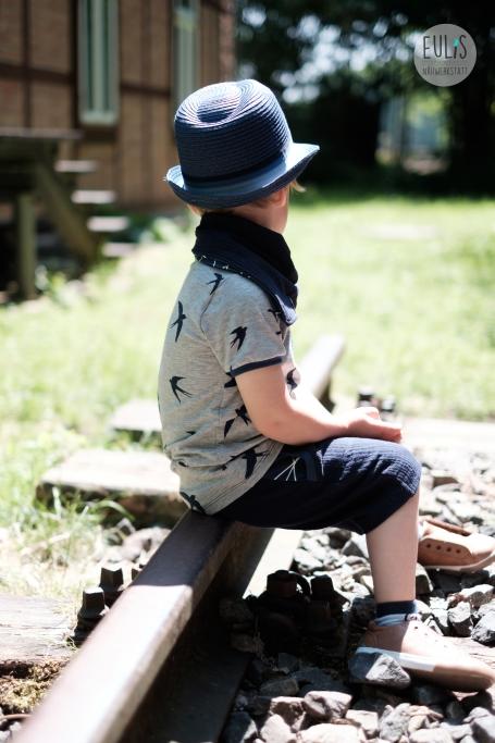 Buntspecht Stoffe Schwalben Musselin Kid 5 15
