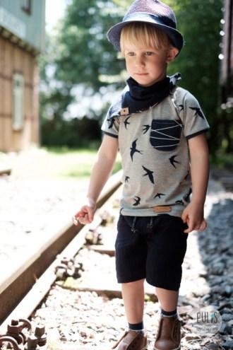 Buntspecht Stoffe Schwalben Musselin Kid 5 6