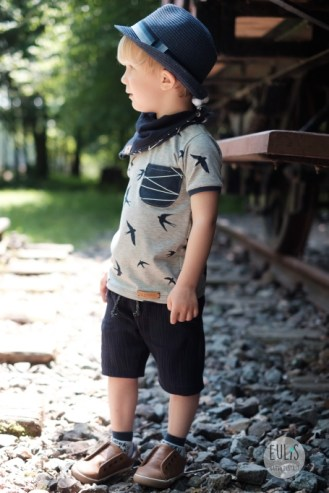 Buntspecht Stoffe Schwalben Musselin Kid 5 7