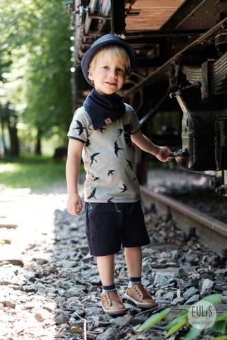 Buntspecht Stoffe Schwalben Musselin Kid 5 9