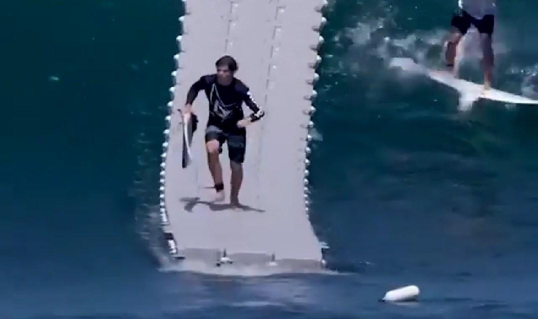 Corriendo hacia la ola perfecta