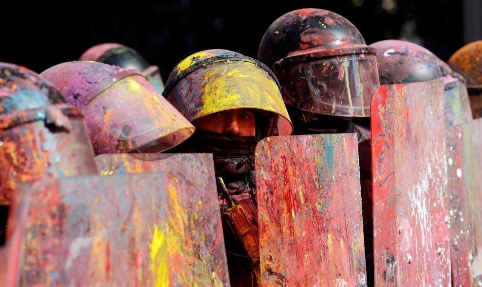 Aniversario del 1-O en Cataluña: estallidos de colores a la víspera