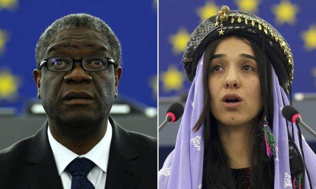 Premio Nobel de la Paz, a los luchadores contra la violencia sexual
