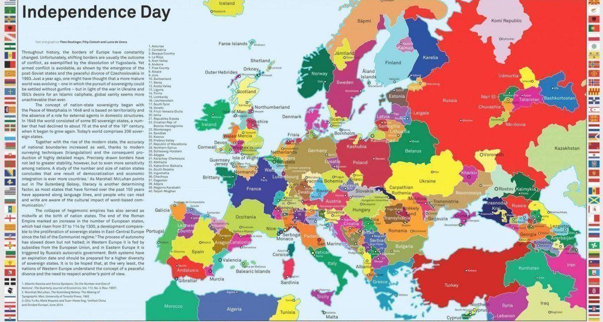 Infografía del día: todas las regiones de Europa que piden más autonomía