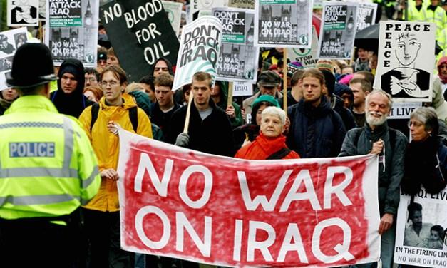 Foto del día: 15 años de las protestas contra la guerra de Irak