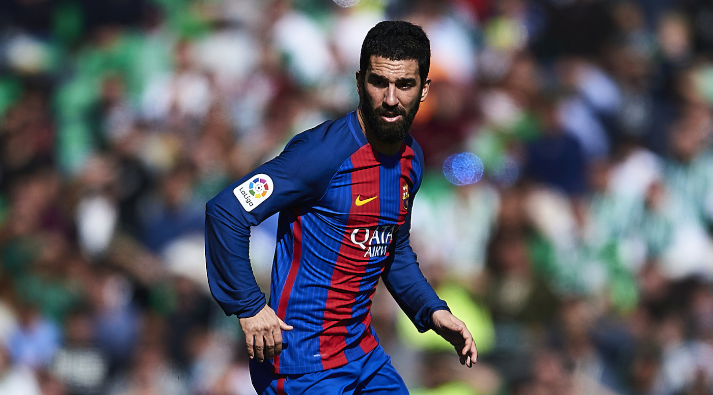 SEVILLE, SPAIN - JANUARY 29: Arda Turan of FC Barcelona in action during La Liga match between Real Betis Balompie and FC Barcelona at Benito Villamarin Stadium on January 29, 2017 in Seville, Spain. (Photo by Aitor Alcalde/Getty Images)