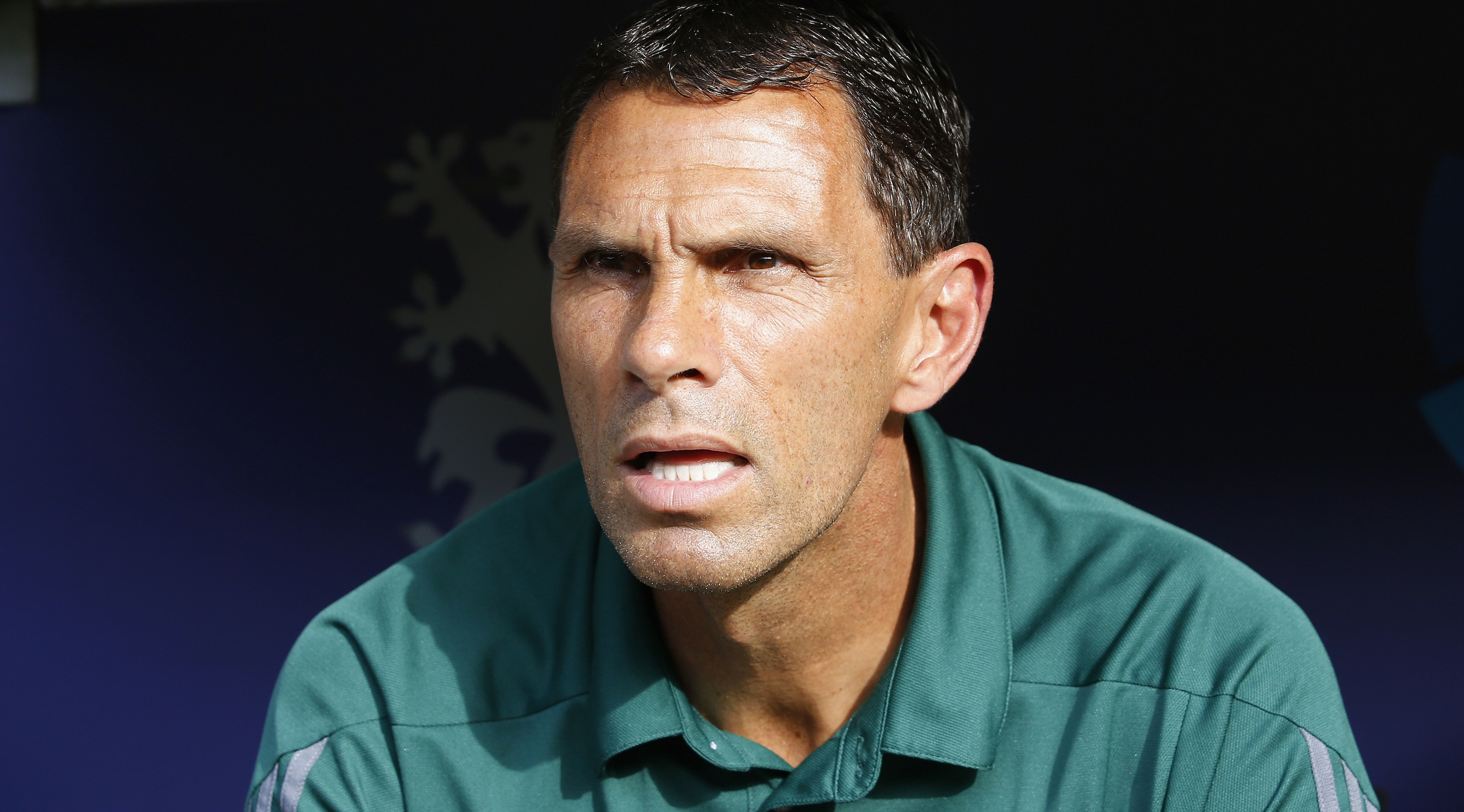 DRESDEN, GERMANY - JULY 29: Head coach Gustavo Poyet of Real Betis looks on prior to the Bundeswehr Karriere Cup Dresden 2016 match between Werder Bremen and Real Betis at DDV-Stadion on July 29, 2016 in Dresden, Germany. (Photo by Boris Streubel/Bongarts/Getty Images)