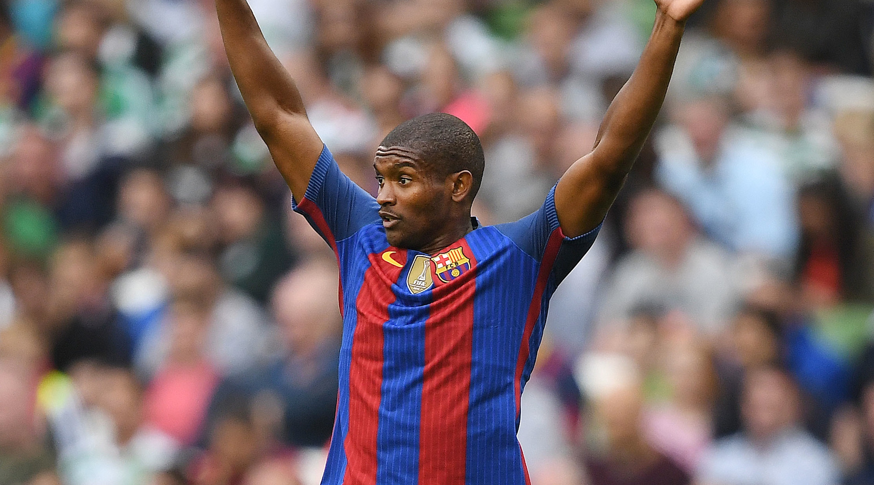 DUBLIN, IRELAND - JULY 30: Marlon Santos of Barcelona during the International Champions Cup series match between Barcelona and Celtic at Aviva Stadium on July 30, 2016 in Dublin, Ireland. (Photo by Charles McQuillan/Getty Images)
