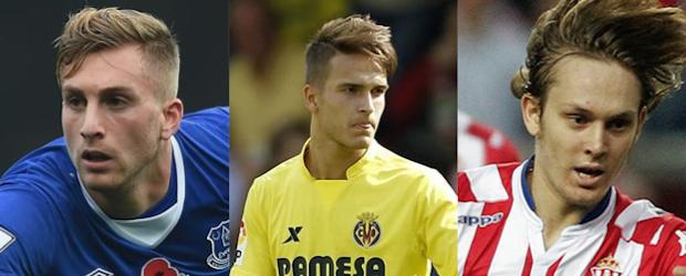 Gerard Deulofeu, Denis Suárez y Alen Halilovic.
