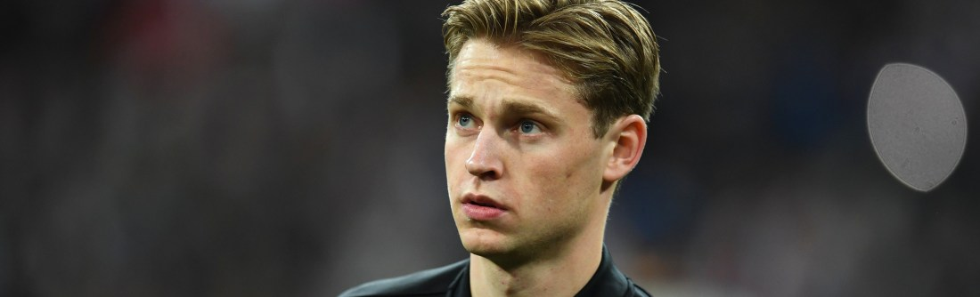 Frenkie de Jong of Ajax looks on prior to the UEFA Champions League Round of 16 Second Leg match between Real Madrid and Ajax at Bernabeu on March 05, 2019 in Madrid, Spain. (Photo by David Ramos/Getty Images)