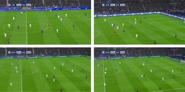 La presión del Madrid de Benítez ante en PSG de Blanc.