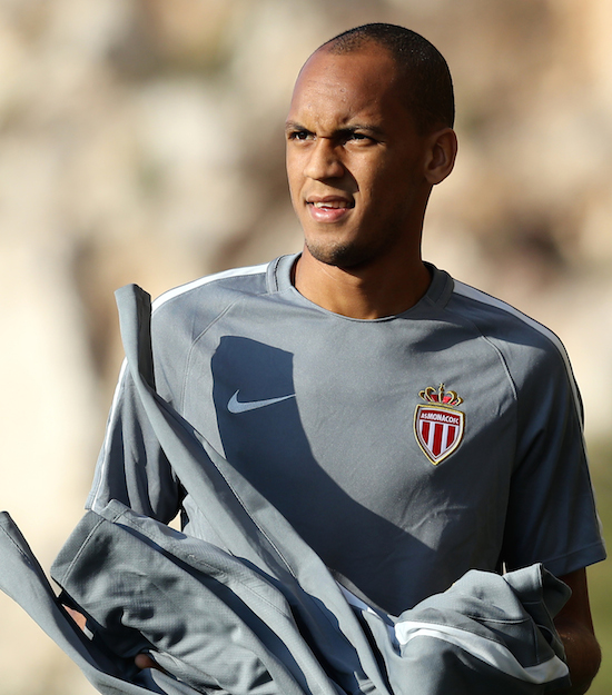 Monaco's Brazilian defender Fabinho arrives for a training session on the eve of the UEFA Champions League football match AS Monaco vs Bayer Leverkusen on September 26, 2016 at the Louis II Stadium in Monaco. / AFP / VALERY HACHE (Photo credit should read VALERY HACHE/AFP/Getty Images)