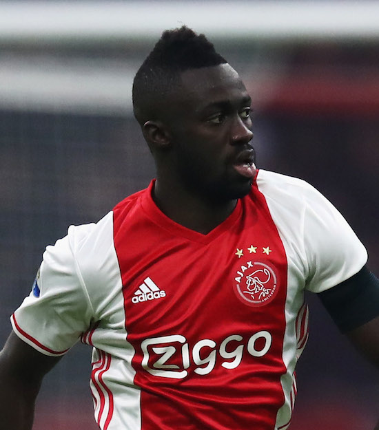 AMSTERDAM, NETHERLANDS - JANUARY 29: Davinson Sanchez of Ajax in action during the Eredivisie match between Ajax Amsterdam and ADO Den Haag held at Amsterdam Arena on January 29, 2017 in Amsterdam, Netherlands. (Photo by Dean Mouhtaropoulos/Getty Images)