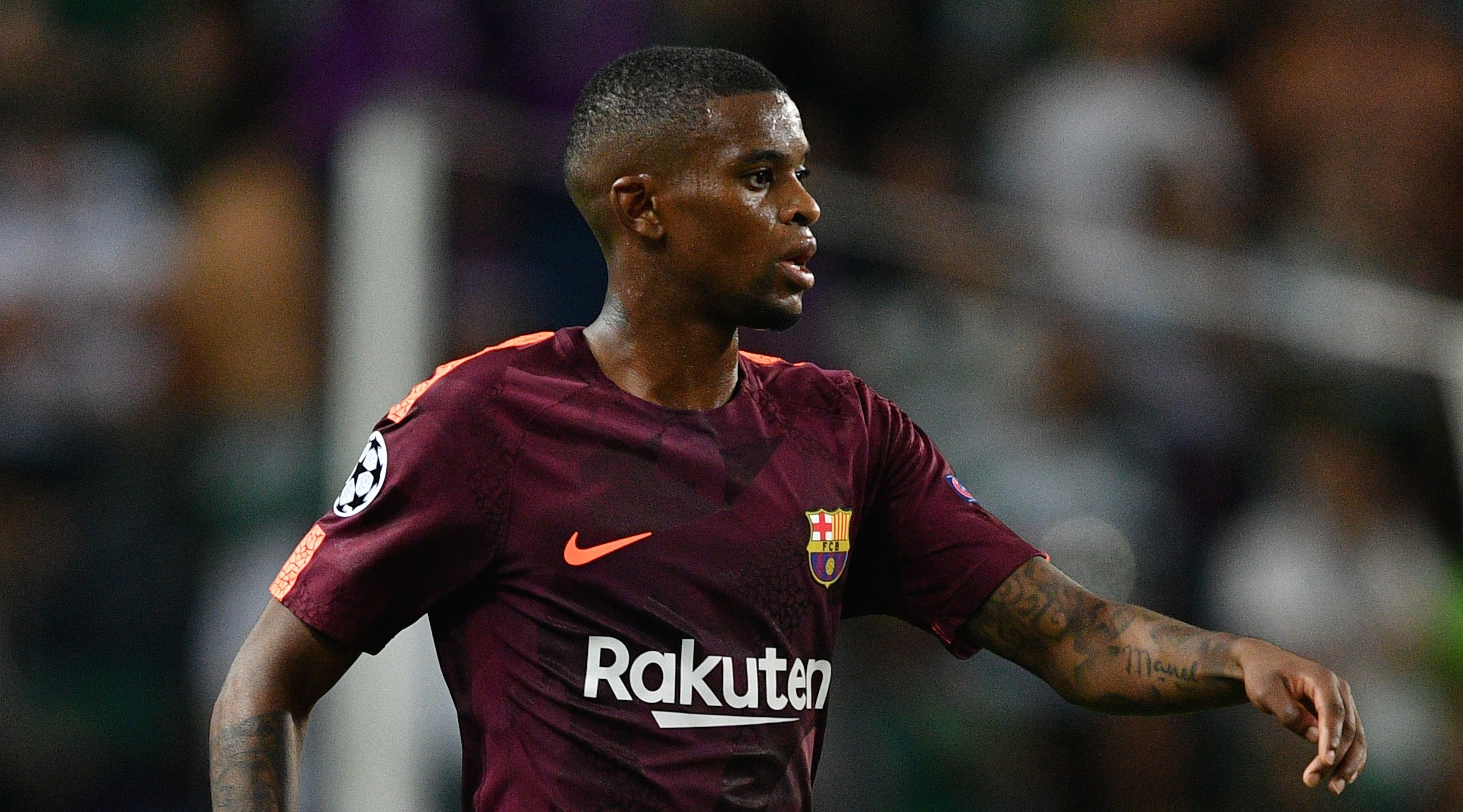LISBON, PORTUGAL - SEPTEMBER 27: Nelson Semedo of FC Barcelona in action during the UEFA Champions League group D match between Sporting CP and FC Barcelona at Estadio Jose Alvalade on September 27, 2017 in Lisbon, Portugal. (Photo by Octavio Passos/Getty Images)