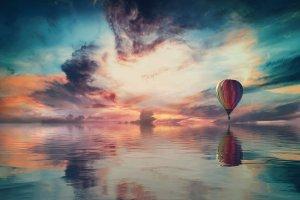 landscape, fantasy, sky