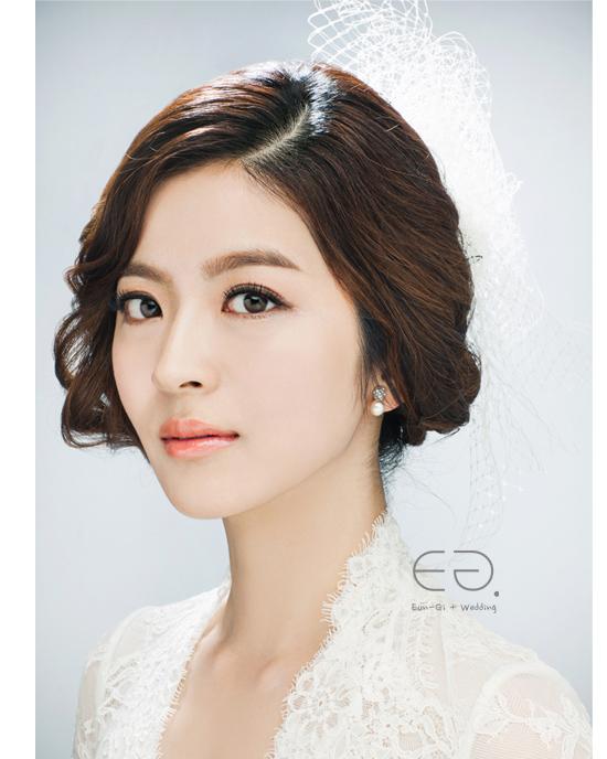 korean bridal make- & hairstyle